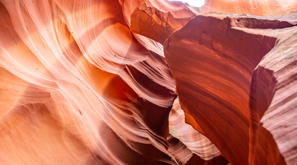 Superb interior view of the Antelope Canyon