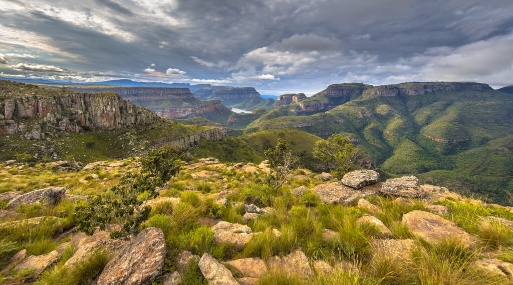 A distant view of the Blyde River Canyon