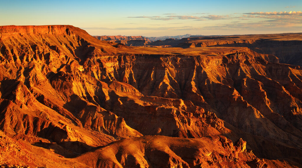 Overview of the arid environment of the Fish River Canyon