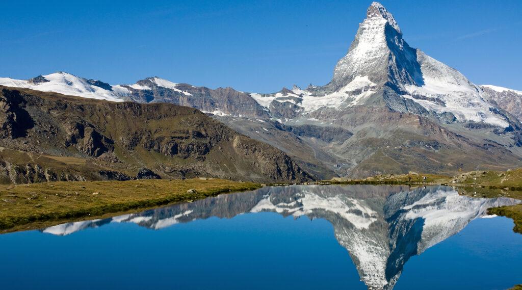 The Matterhorn overlooking Stellisee Lake