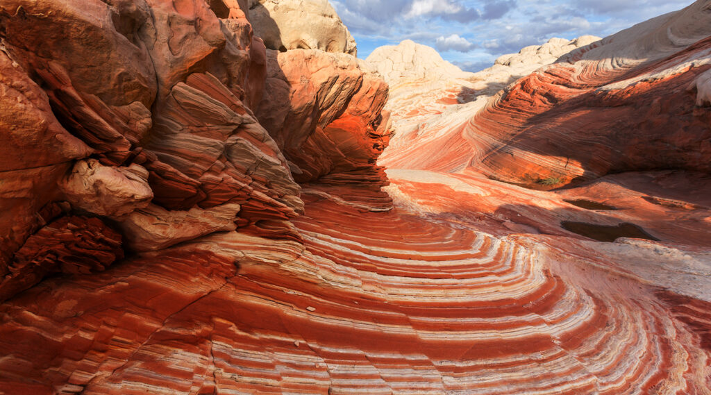 Eroded cliffs with the spectacular forms of the Coyote Buttes
