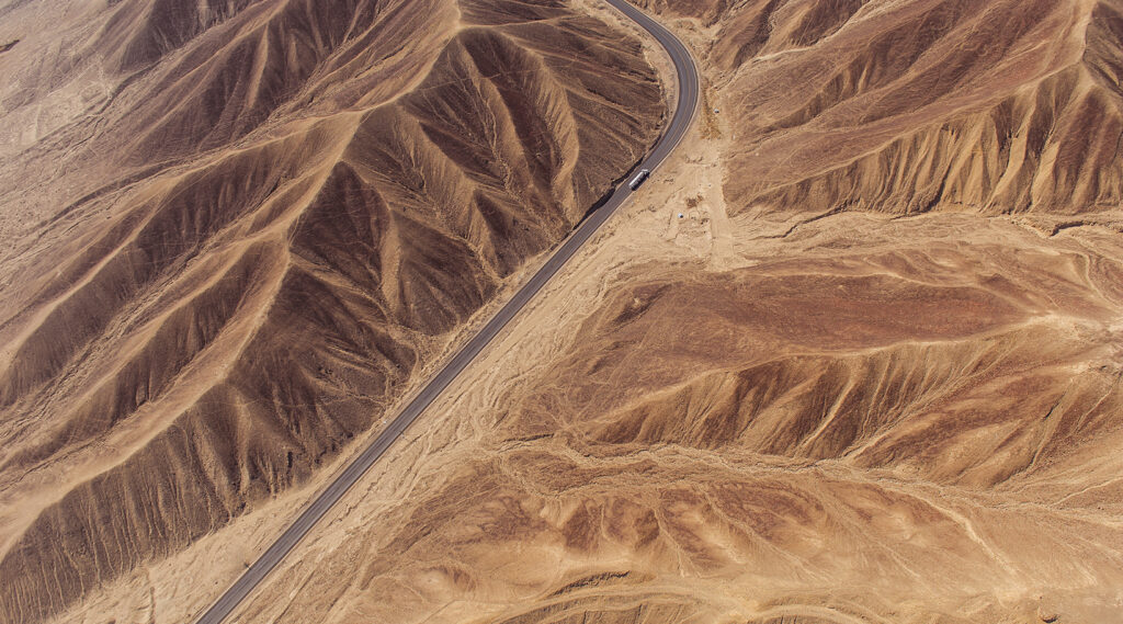 Aerial view of the Sechura Desert