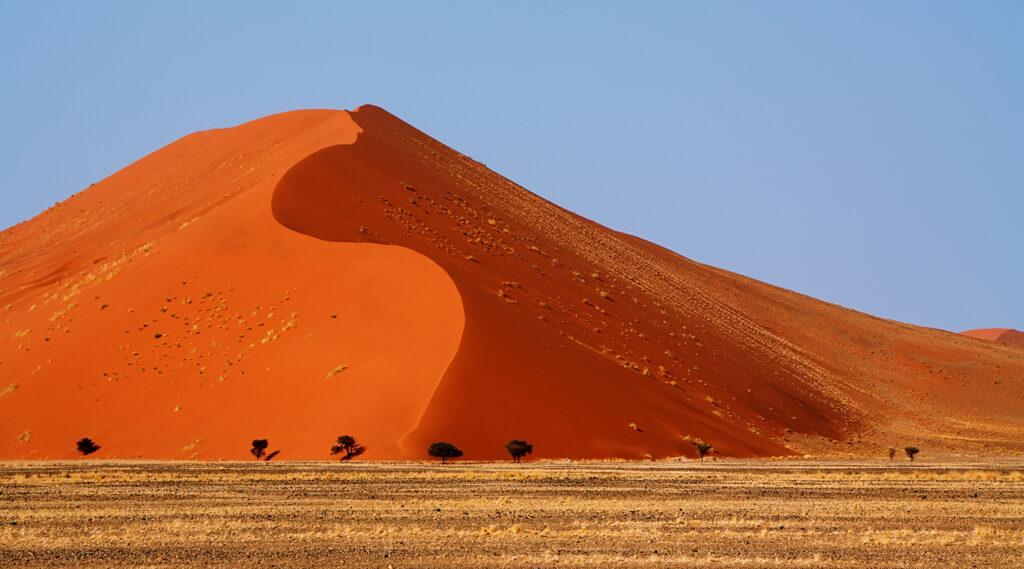 Large undulating dune of the Namib Desert called dune 45