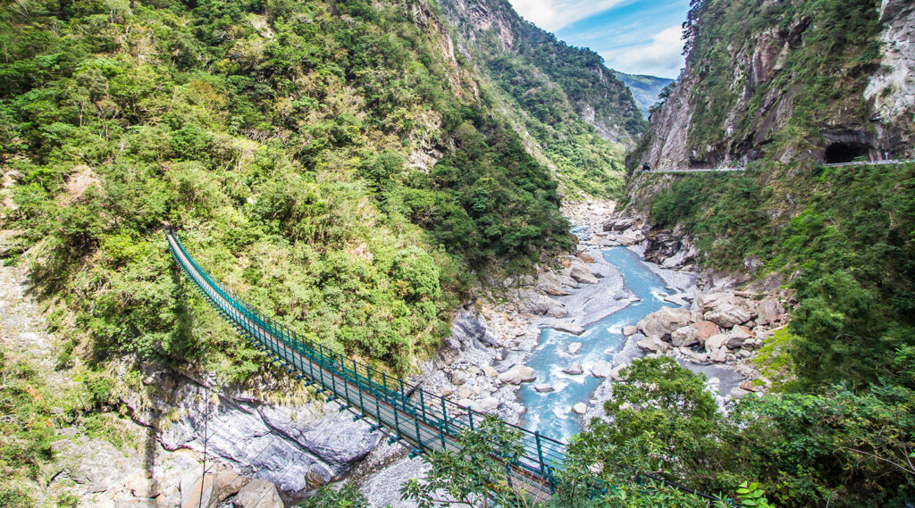 Accident landscapes of the Taroko Gorge
