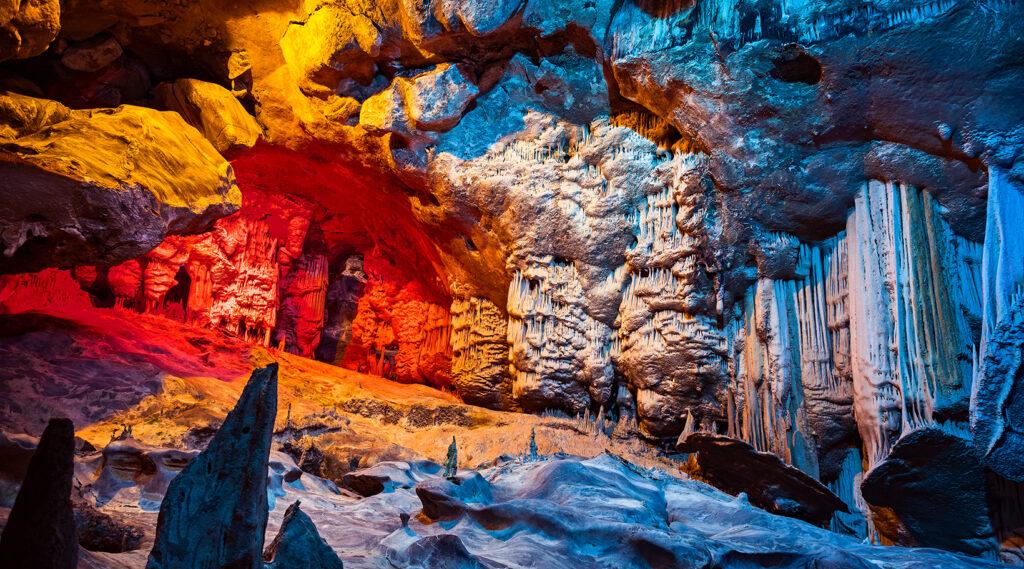 Superb concretion inside the Cango Caves
