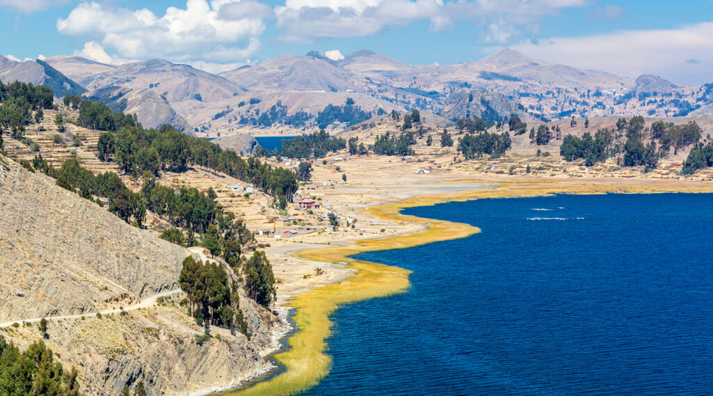 Andean Mountains protecting Lake Titicaca