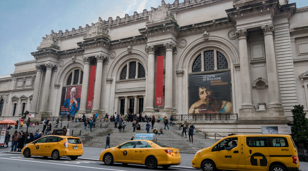 Permanent exhibition hall inside the Metropolitan Museum of Art in New York City