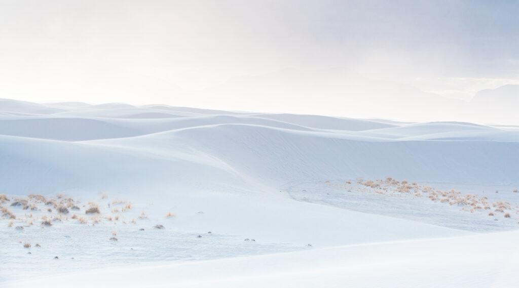 White sand dunes from White Sands National Park