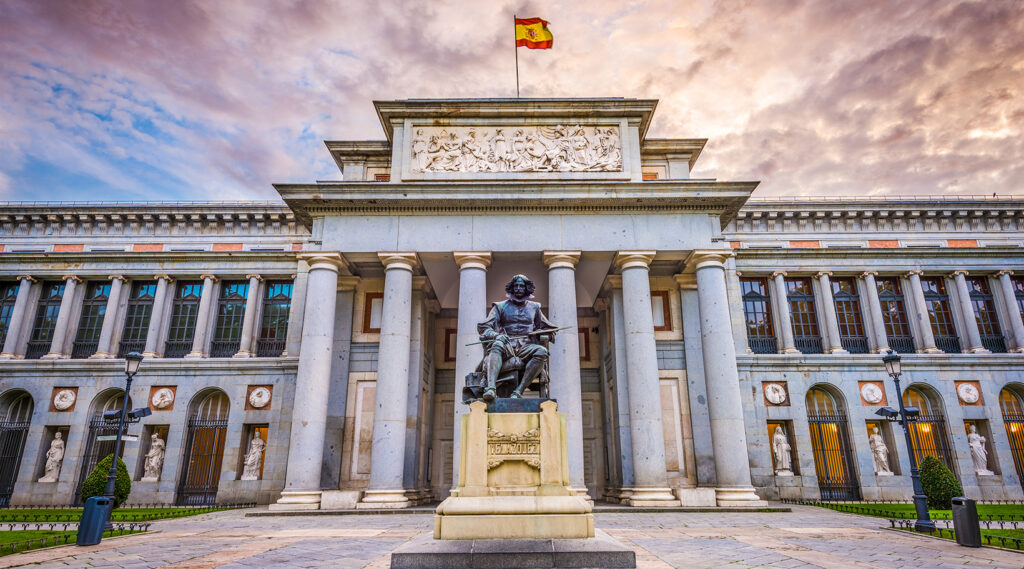 External entrance to the Prado Museum