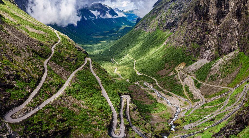 Trollstigen winding road